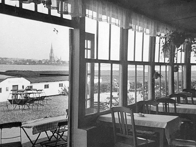 Historie Gastraum Strandrestaurant Marienbad