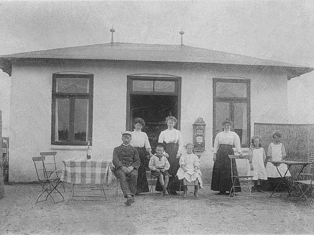 Historie Sommerhaeuschen Strandrestaurant Marienbad