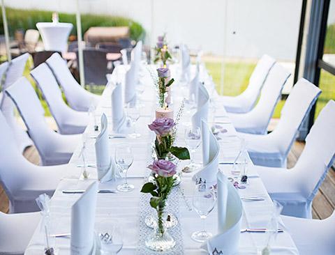 Hochzeitstafel Pavillon Strandrestaurant Marienbad