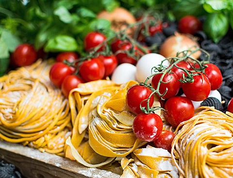Italienischer Abend Pasta Strandrestaurant Marienbad